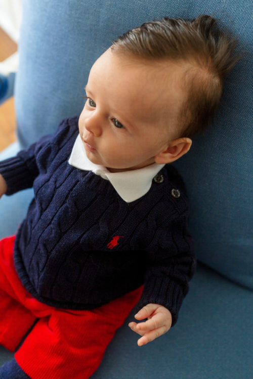 ralph lauren cable-knit cotton sweater baby boy