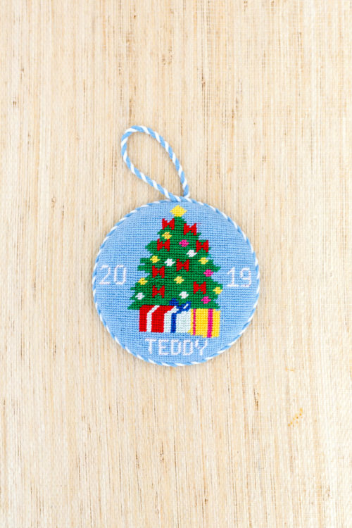 baby's first christmas ornament needlepoint canvas design darling