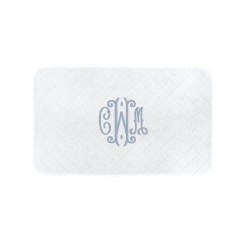 monogrammed bath mat