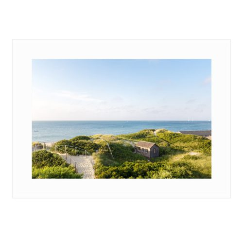 nantucket steps beach art print