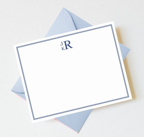 monogrammed stationery design darling