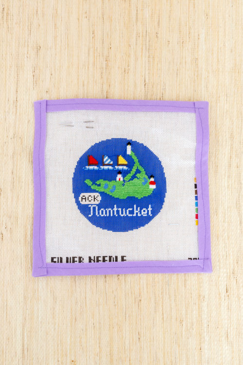 nantucket needlepoint christmas ornament design darling