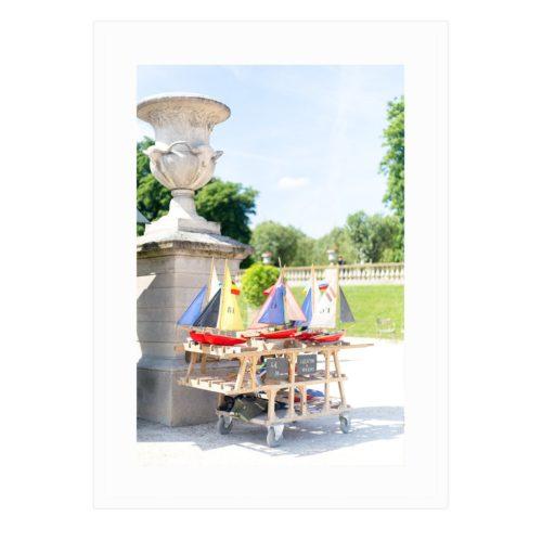 Jardin du Luxembourg Sailboats Framed Print