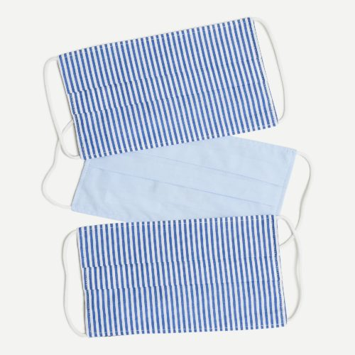j.crew blue and white stripe face masks