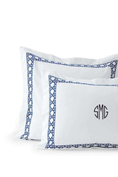 lands end monogrammed cane bedding