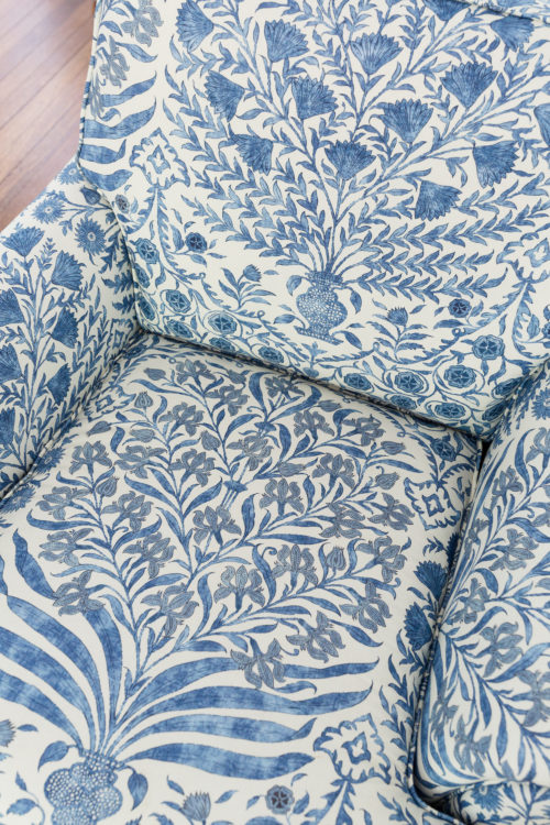 lee jofa sameera fabric in blue:indigo
