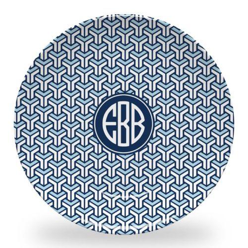 mark & graham monogrammed outdoor melamine plates
