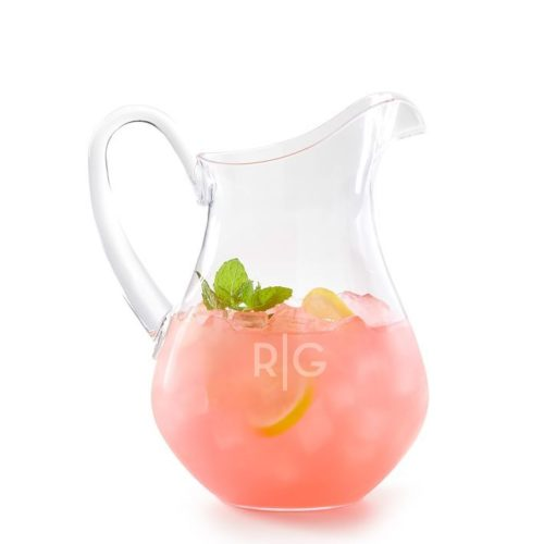 monogrammed acrylic pitcher