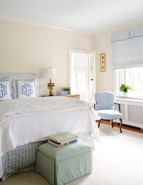 monogrammed bedding euro shams in french blue