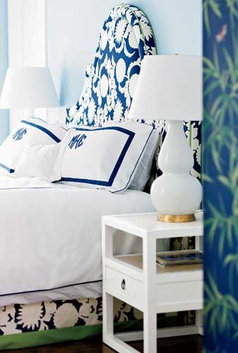 navy blue monogrammed bedding