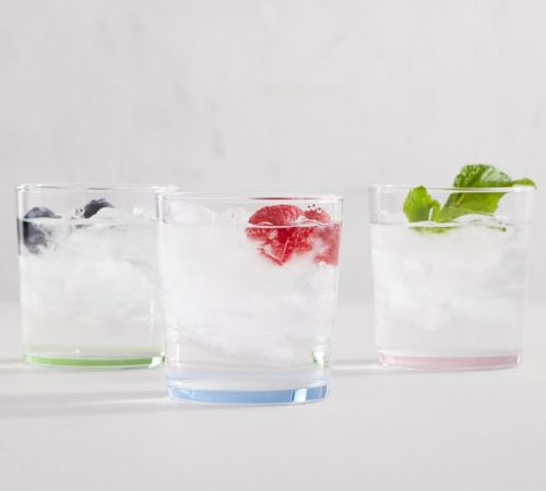 pottery barn colored glass tumblers