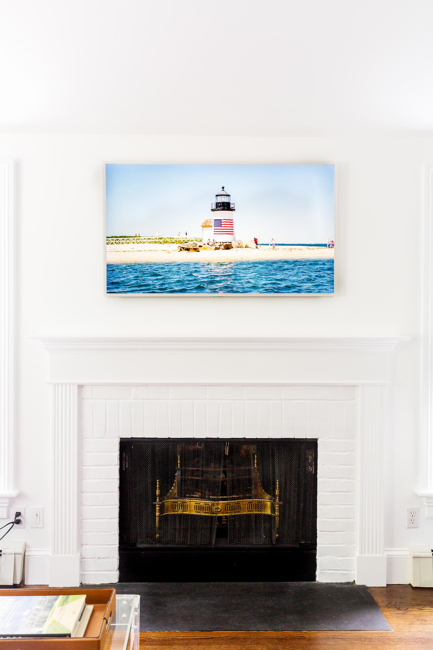"""samsung frame tv with white bezel 55"""" on design darling"""
