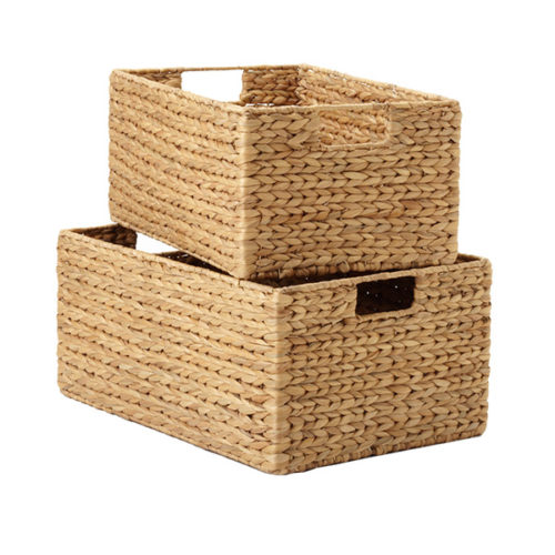 the container store water hyacinth storage bins with handles