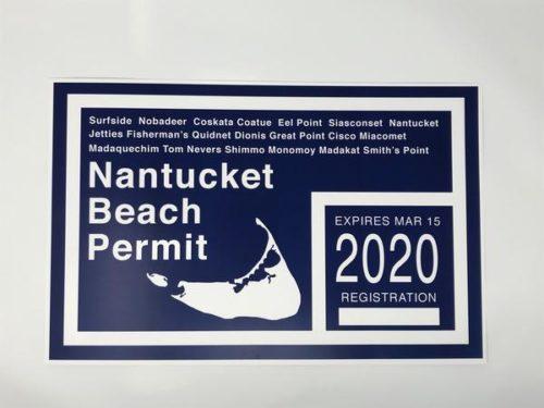 nantucket beach permit art print