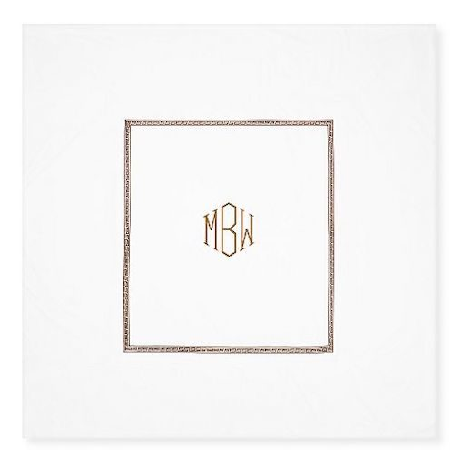 williams sonoma home greek key monogrammed duvet cover