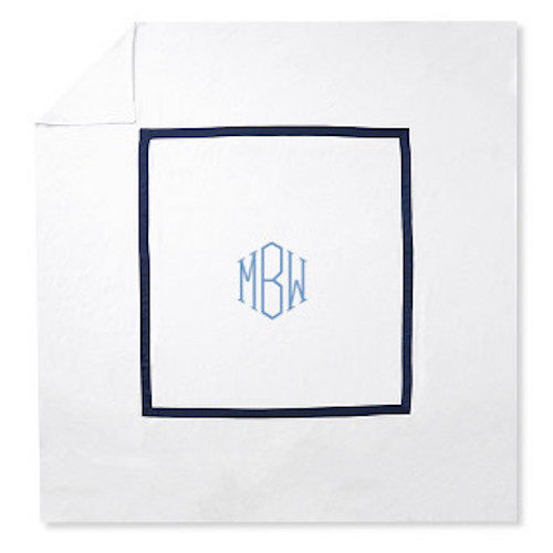 williams sonoma home monogrammed duvet cover