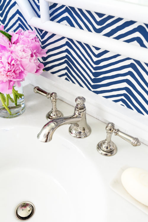 kohler artifacts bell spout faucet with kohler artifacts sink lever handles in vibrant polished nickel