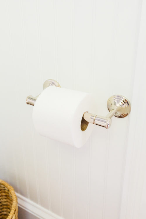 pottery barn mercer toilet paper holder in polished nickel