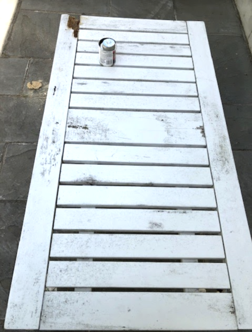 restoring outdoor table before