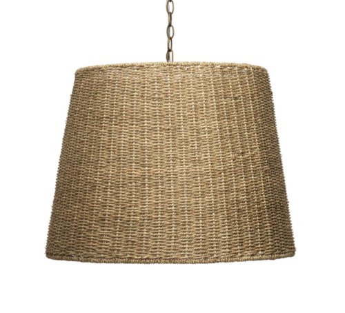 woven shade pendant chandelier
