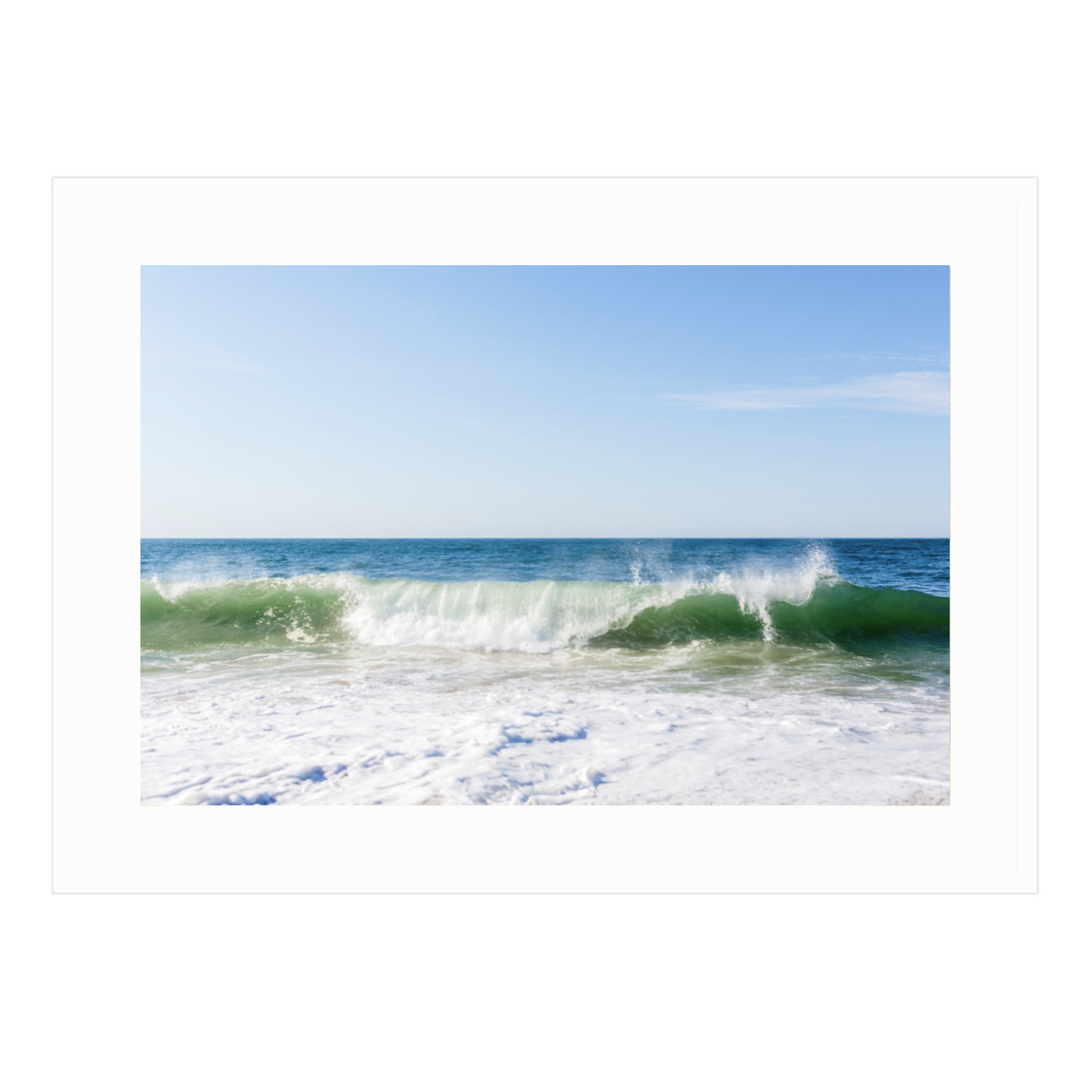 Surfside Beach Waves Framed print