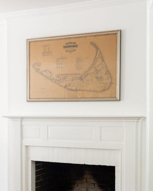 antique nantucket map on design darling