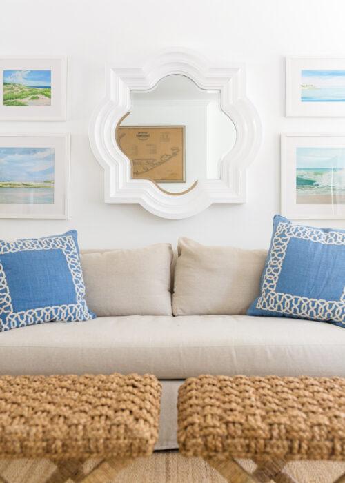 casey chalem anderson prints and quatrefoil mirror in design darling living room
