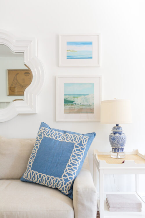 casey chalem anderson prints oomph edgartown side table and serena & lily jetty pillow cover