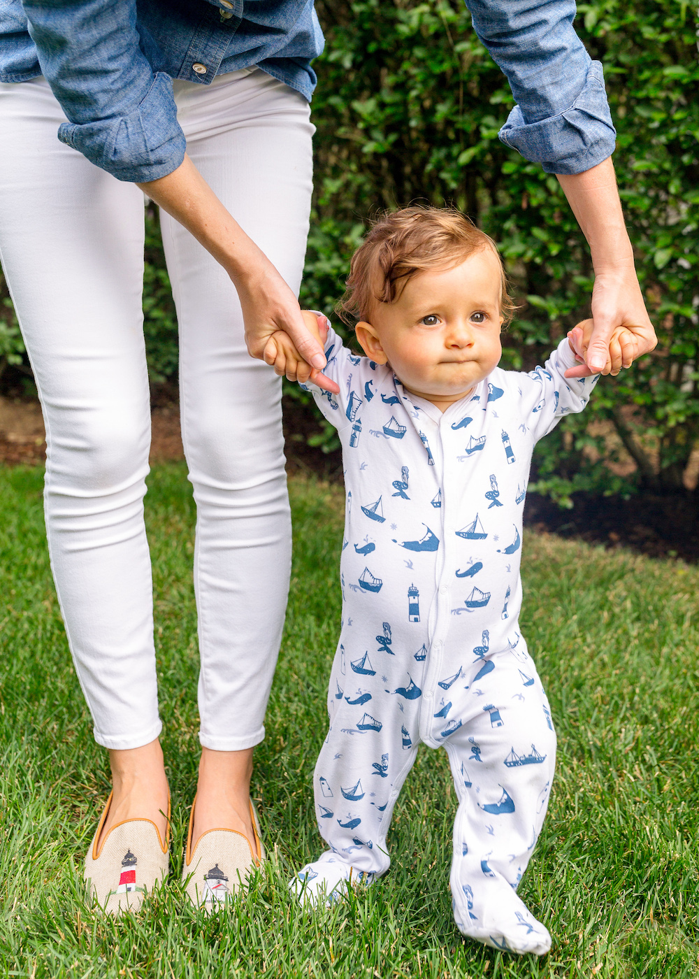 stubbs & wootton nantucket loafers and roberta roller rabbit erica wilson nantucket pajamas