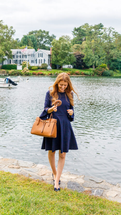 kate spade bell sleeve ponte dress and kate spade toujours large satchel