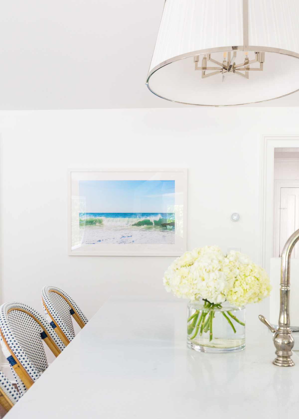nantucket print shop surfside waves print in kitchen on design darling