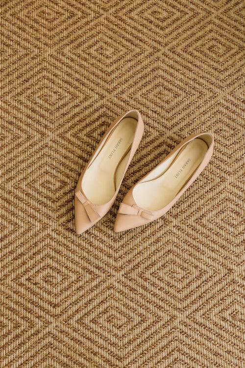 sarah flint natalie flats on dash & albert cress bark indoor:outdoor custom rug