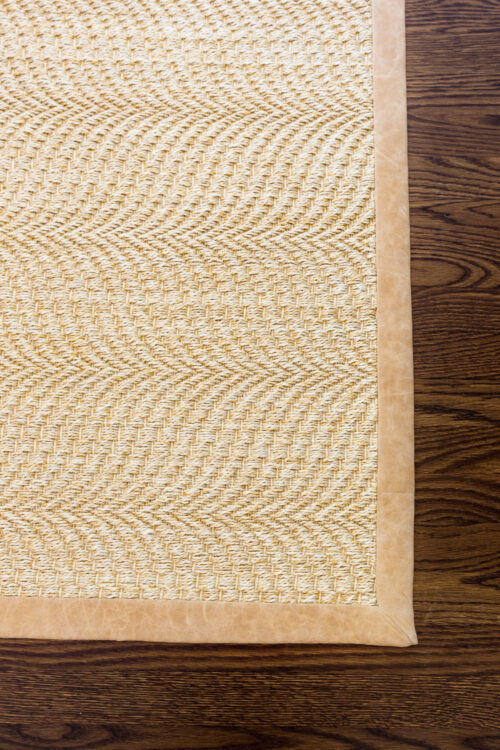 williams sonoma home customizable sirena concha sisal rug with distressed leather binding