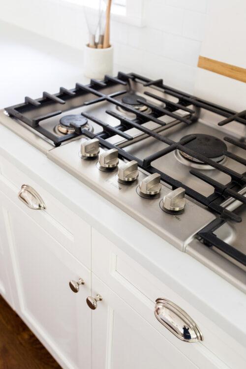 design darling kitchen bosch stovetop and emtek hardware