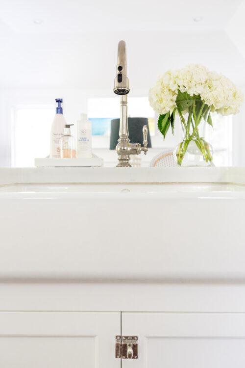 kohler whitehaven under-mount farmhouse sink in design darling kitchen
