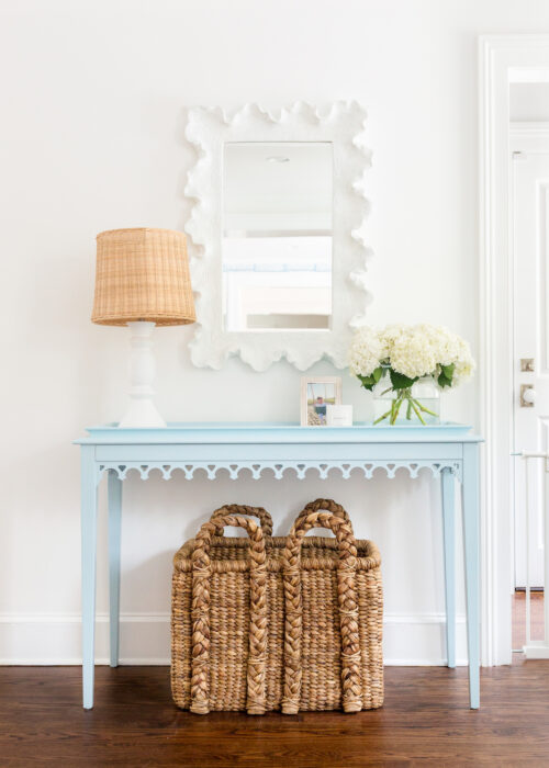oomph newport console table hinting blue