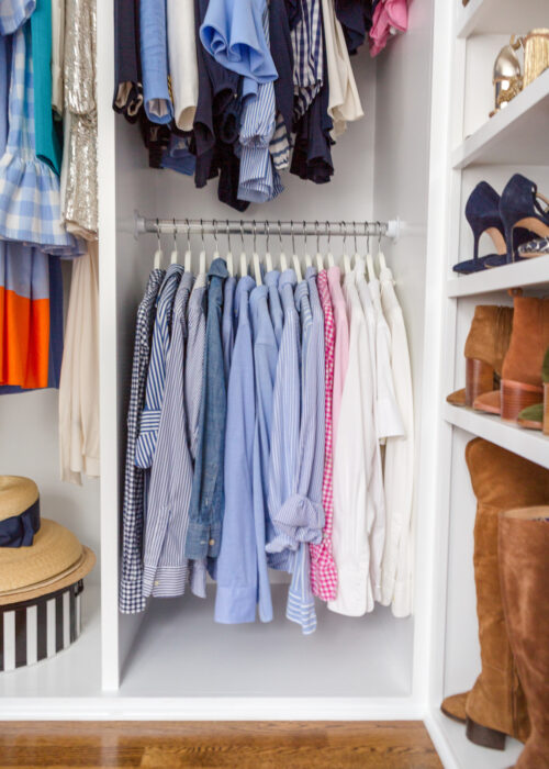 design darling closet lucite rods
