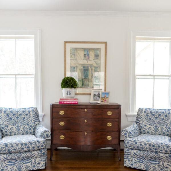 mahogany bow front dresser on design darling