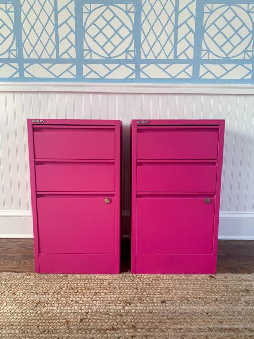 hot pink file cabinets design darling