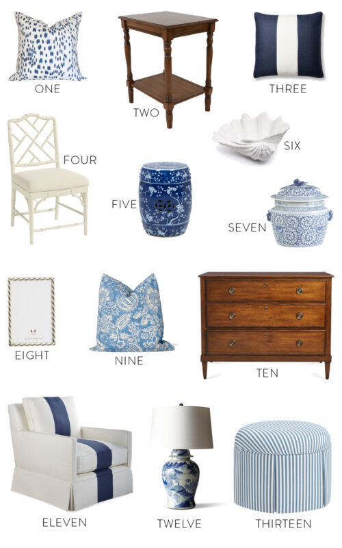 blue and white decor design darling