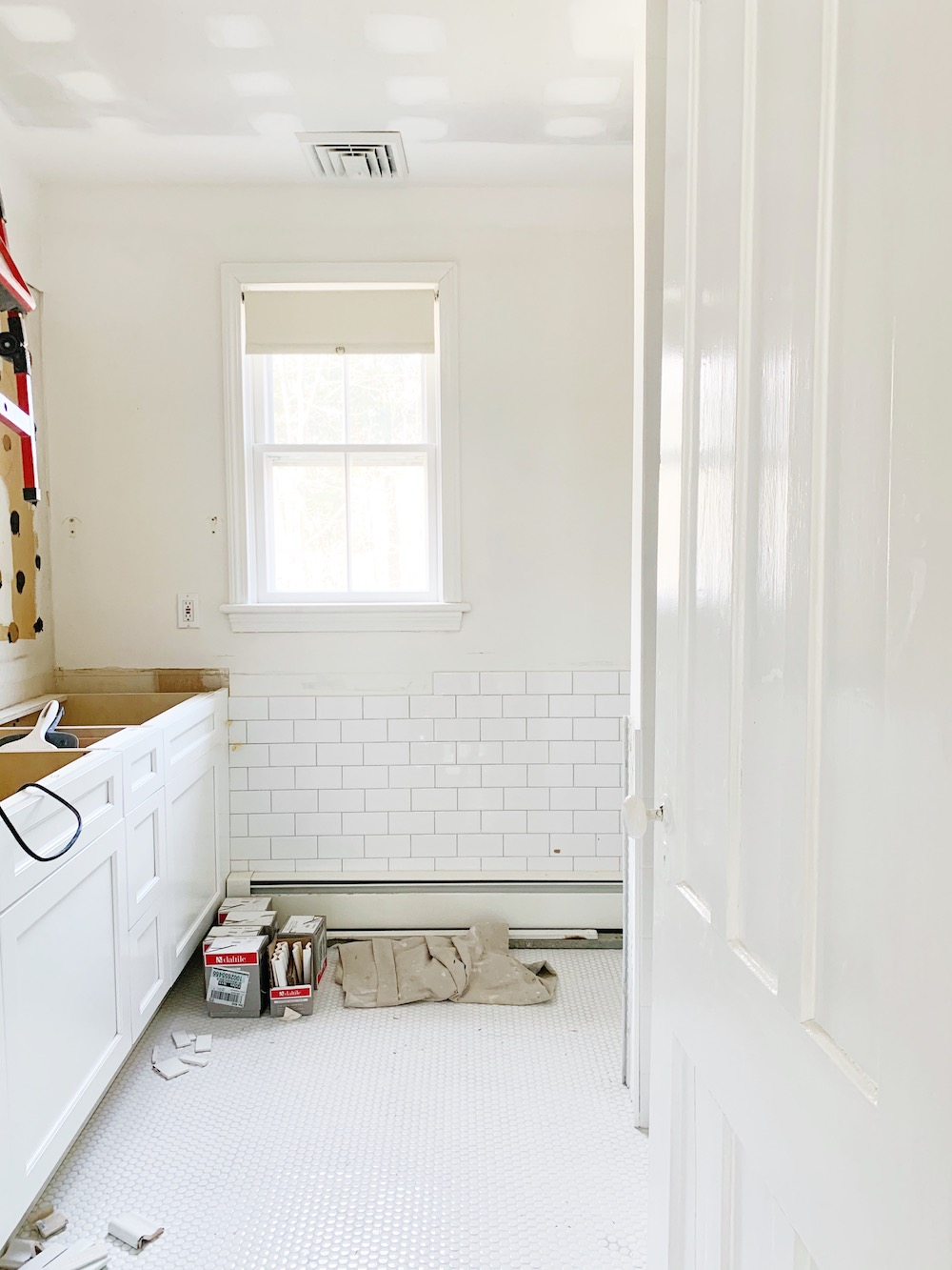 design darling hall bathroom progress