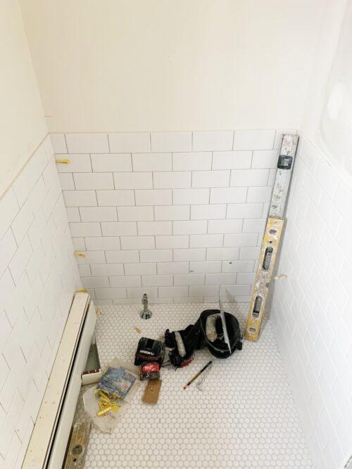 design darling hall bathroom progress