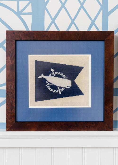 nantucket flag needlepoint canvas framing on design darling