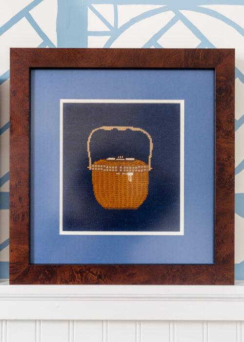 sara fitz lightship basket needlepoint canvas framing on design darling