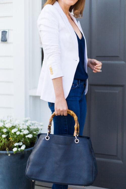 smythe duchess blazer in white