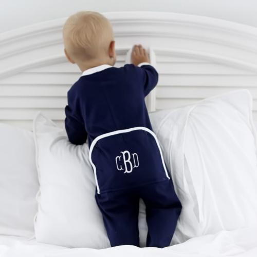 monogrammed baby pajamas