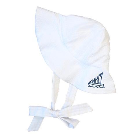 seersucker sun hat for baby