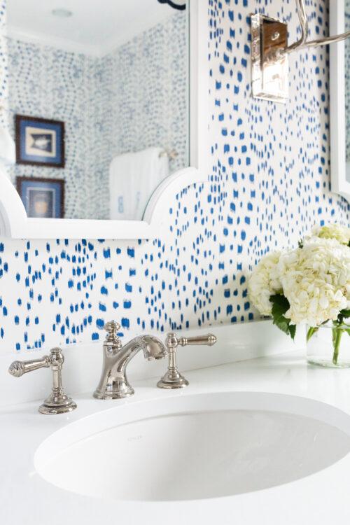 kohler artifacts faucet in design darling hall bathroom
