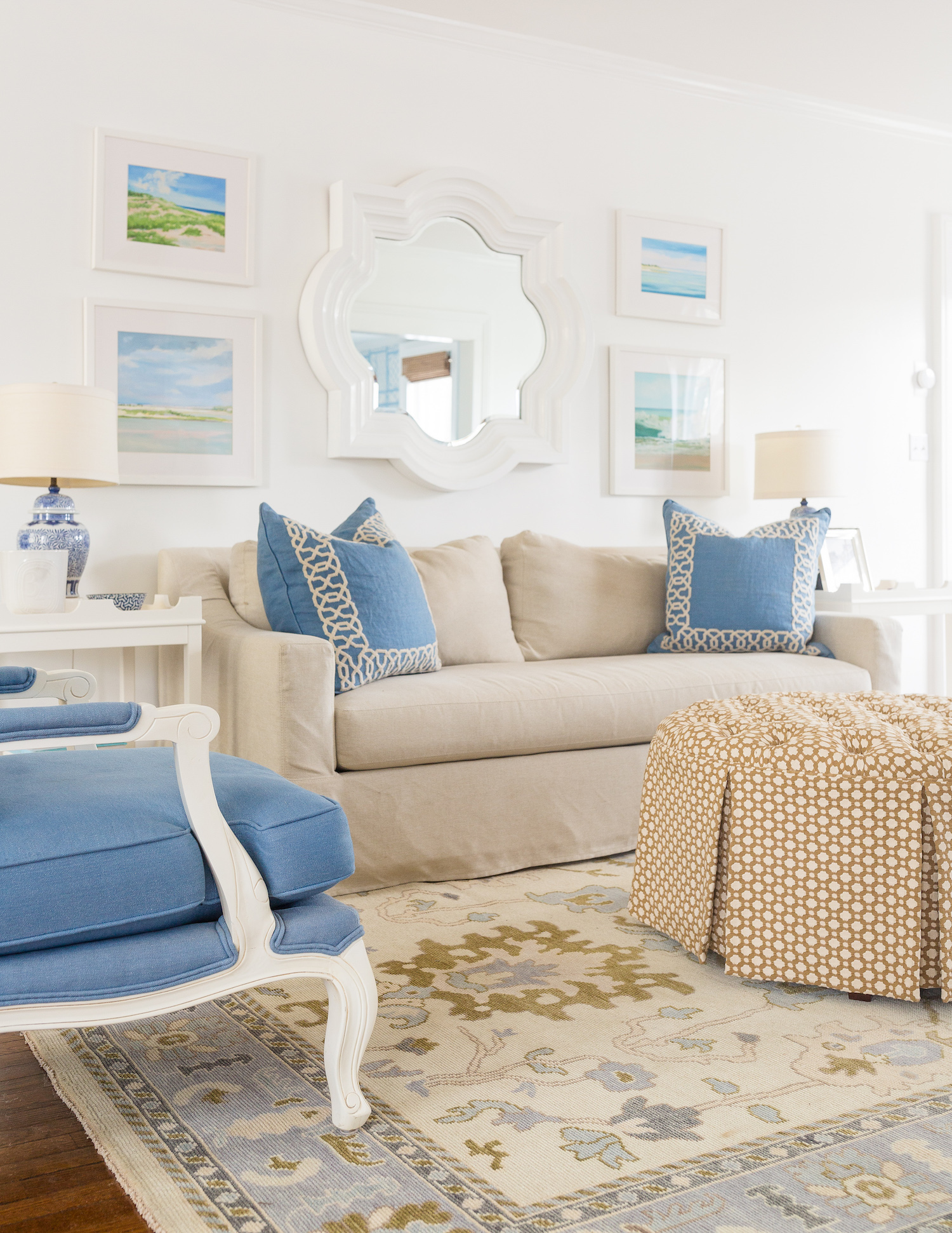 loom & co dean oushak rug in design darling living room