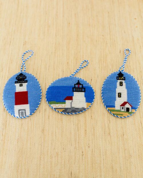 nantucket lighthouses needlepoint ornaments erica wilson